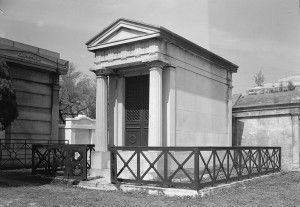 J.N.B. de Pouilly, Peniston-Duplantier Mausoleum, 1842, St. Louis Cemetery Number Two, New Orleans.