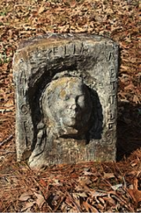 Isaac Nettles, Ezella Nettles Death Mask, 1933-1946, Mt. Nebo Cemetery, Clarke County, Alabama
