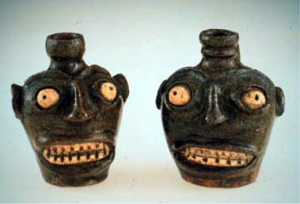 Attributed to an African American slave, Face Jugs, Edgefield, ca. 1850, South Carolina.