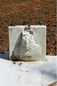 Isaac Nettles, Manul Burell Death Mask, 1933-1946, Mt. Nebo Cemetery, Clarke County, Alabama.