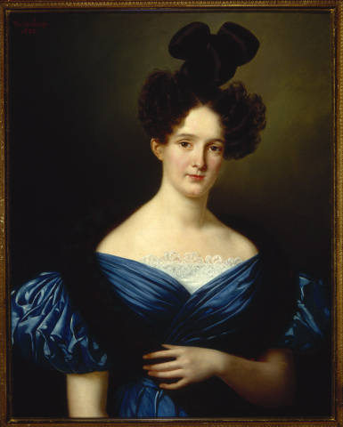 Portrait of a Woman with a Fur Boa, Jean-Joseph Vaudechamp, 1832, The Historic New Orleans Collection