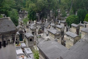 Père Lachaise Cemetery in Paris, France