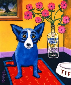 Figure 10 : Absolut Rodrigue, 1993. Acrylic on canvas, 60 x 36 inches. Collection Absolut Vodka.