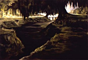 Figure 2: Sugar Bridge over Coulee, 1973. Oil on canvas, 48 x 72 inches. Private Collection.