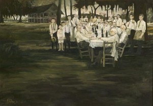 Figure 5: Aioli Dinner, 1971. Oil on canvas, 32 x 46 inches. Collection the Ziegler Museum, Jennings, Louisiana.