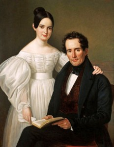 Edmond Jean Forstall and his daughter Desiree Forstall (later Madame Charles Roman), Jean Joseph Vaudechamp, 1836, The Historic New Orleans Collection