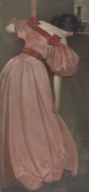 "John White Alexander; ""Portrait Study in Pink (The Pink Gown)"""